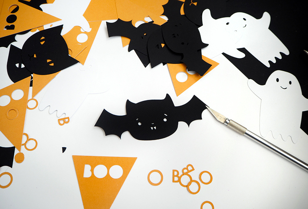 diy une guirlande en papier pour halloween cr ez avec. Black Bedroom Furniture Sets. Home Design Ideas