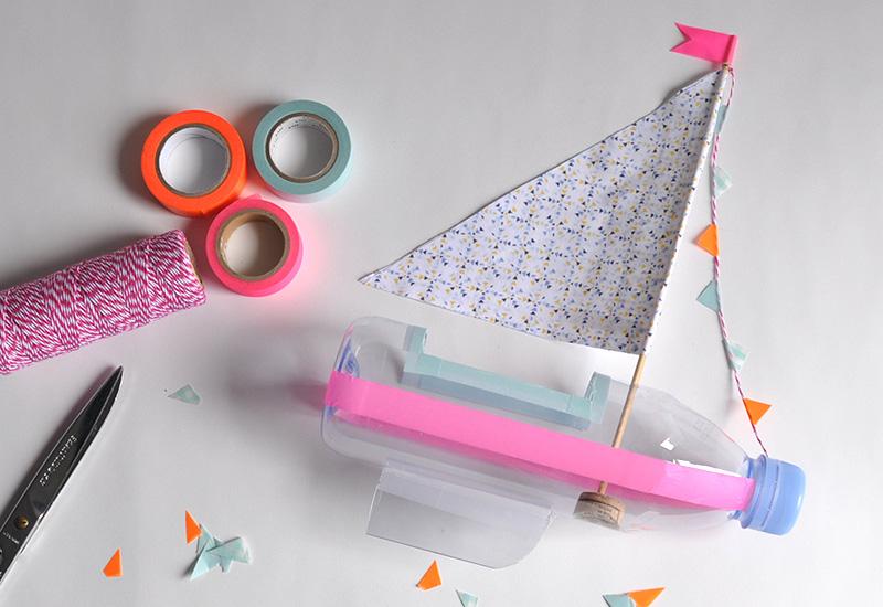 evian bébé - DIY - Un bateau à partir de bouteilles evian