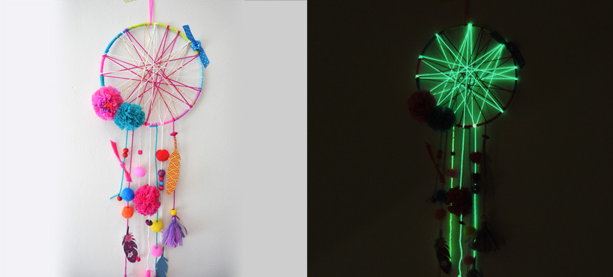 evian bébé - DIY Attrape-rêve phosphorescent