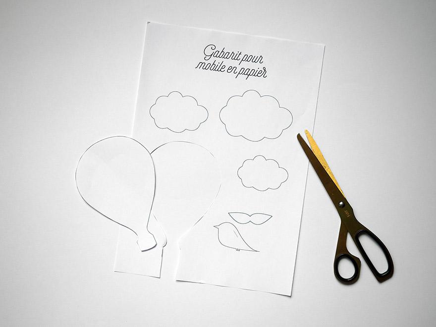 evian bébé - Printable Mobile oiseau en papier