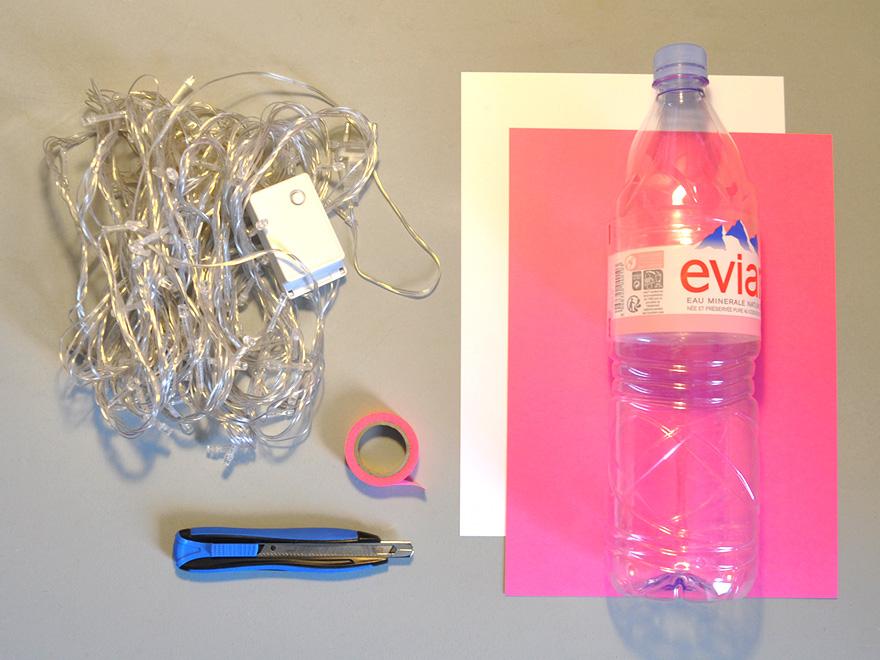 evian bébé - DIY - Une veilleuse avec une bouteille evian