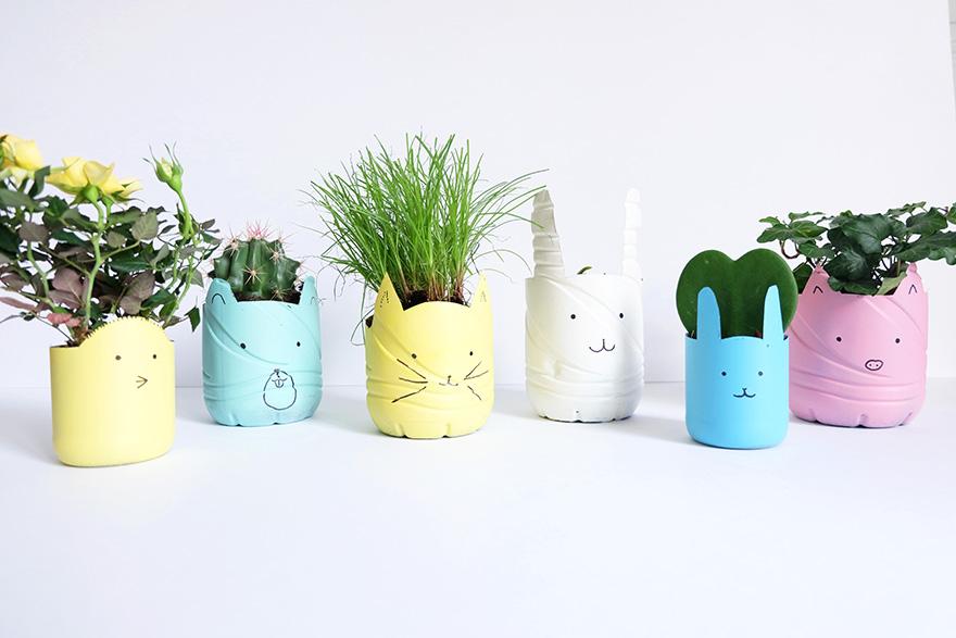 evian bébé - DIY - Des cache-pots à partir de bouteilles evian