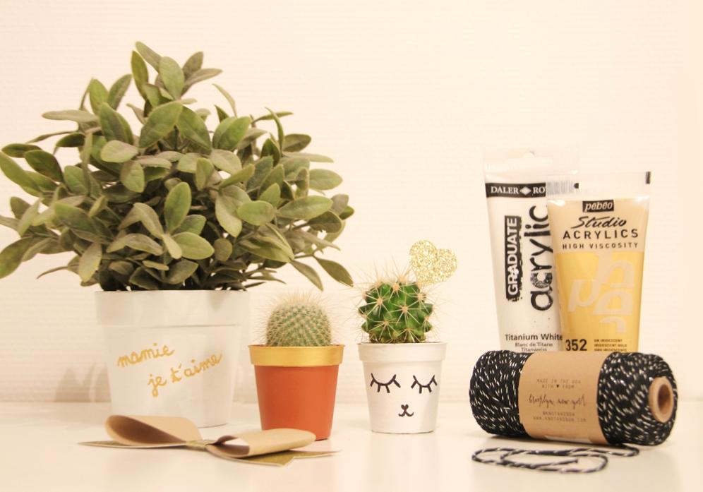 customiser un pot de fleurs pour la f te des grands m res devenir maman tous nos conseils. Black Bedroom Furniture Sets. Home Design Ideas