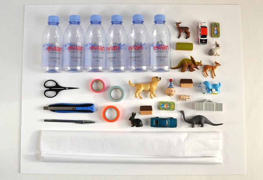 evian bébé - DIY - Un calendrier de l'avent à partir de bouteilles evian - Matériel